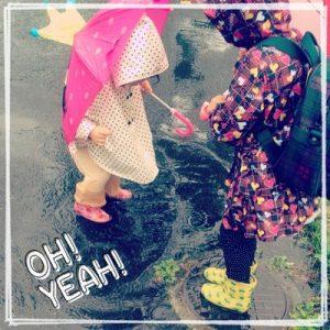 西松屋の子供長靴と傘