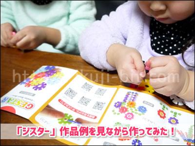 知育玩具ジスター幼児と小学生が遊んだ