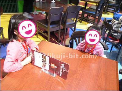 カンドゥー専用の休憩テーブル