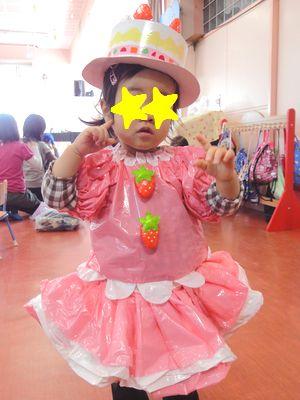 女の子のハロウィン仮装