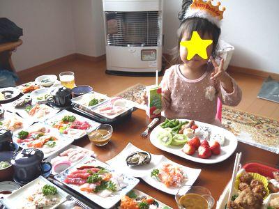 子どもの誕生日パーティ料理プレート