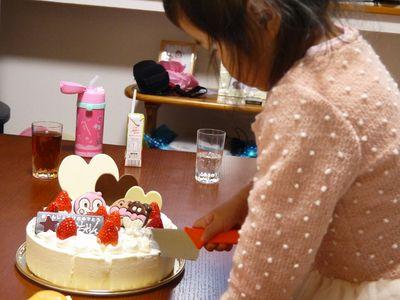 子どもの誕生日パーティケーキ切り分け子ども包丁