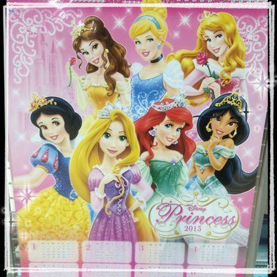 100円ショップダイソーでディズニープリンセスのカレンダーを買った