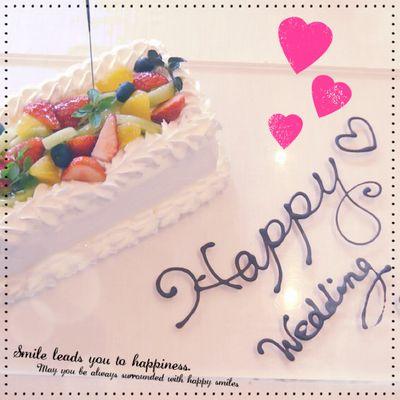 結婚記念日に記念ケーキ