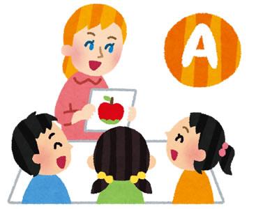 幼稚園の英語教室の体験談