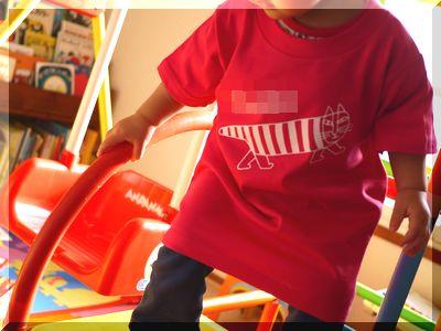 tmix1歳児のオリジナルTシャツ着画