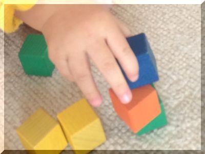 子供がつまみやすい大きさの積み木