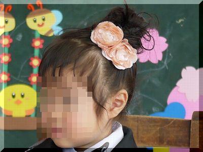 入園式の女の子ヘアアレンジお団子