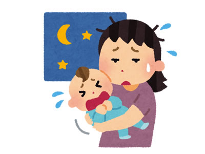 産後ママは夜の授乳で寝不足
