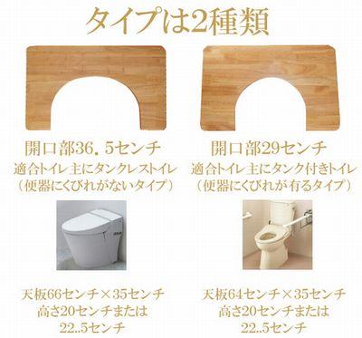 1万円のトイレの踏み台タイプは2種類
