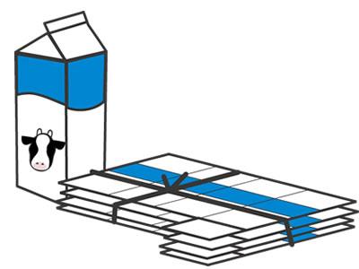 牛乳パック踏み台の作り方