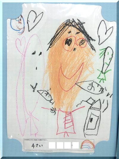 子供が書いた父の日の似顔絵