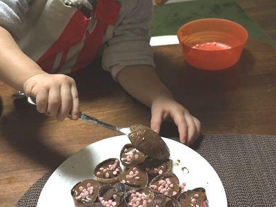 バレンタインチョコを子供だけで作る
