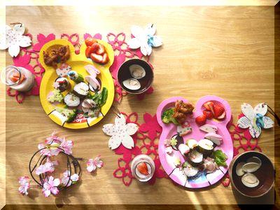 ひな祭り料理の子供用メニュー