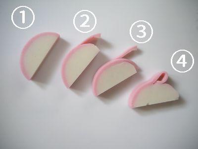 うさぎかまぼこ飾り切り方法